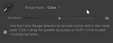 Range Mask Tool after Color is selected