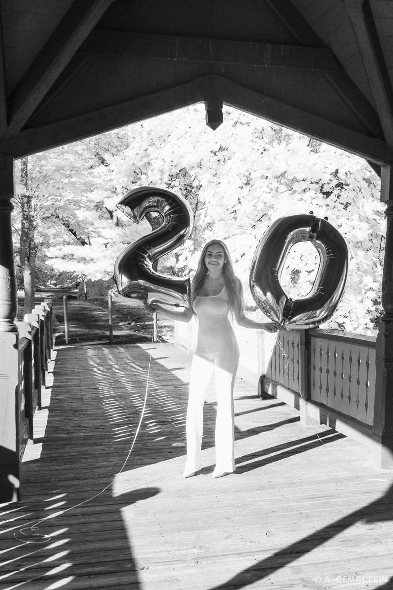Young woman celebrating her 20th birthday