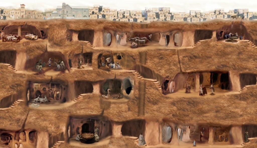 Derinkuyu Underground City diagram (https://goo.gl/zaEtwJ)