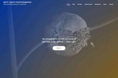 Kept Light Photography site changes