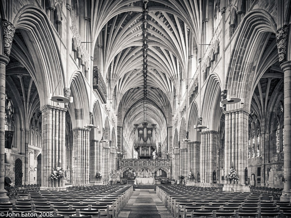 Exeter Nave Looking East - John Eaton