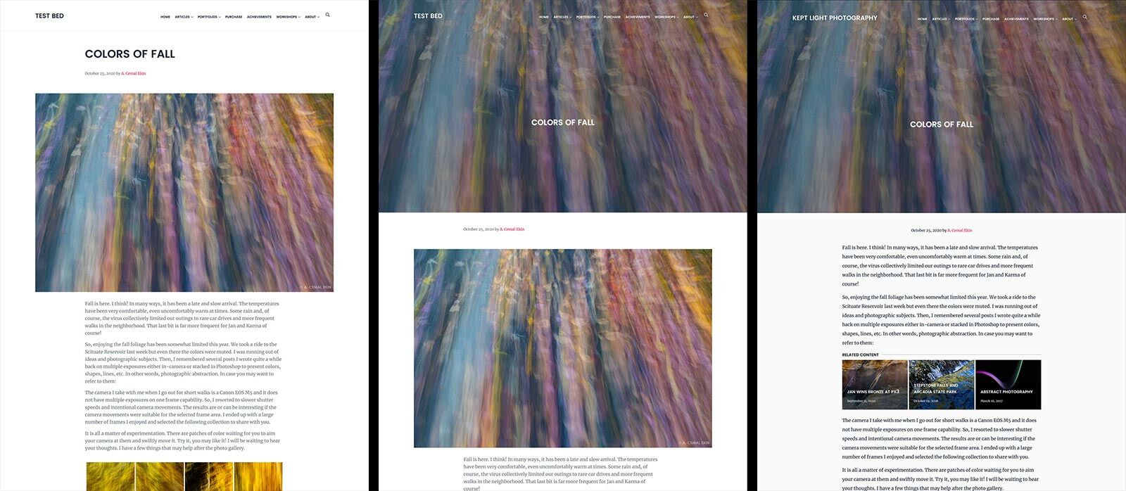 Use Css To Hide The First Image In A Post Kept Light Photography