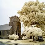 Asbury United Methodist Church in infrared