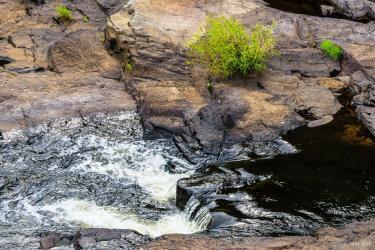 Pawtuxet River small waterfalls